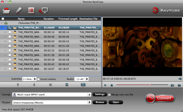 Convert 3D Blu-ray to Multi-track MP4