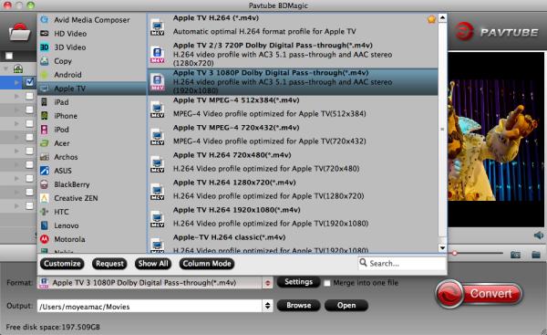 Apple TV 3 video format
