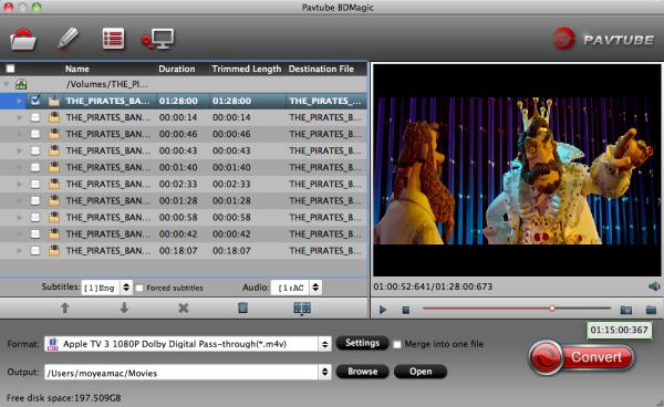 Blu-ray to ATV 3 Ripper on Mac
