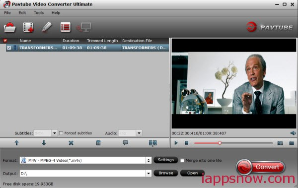 convert youtube video to m4v