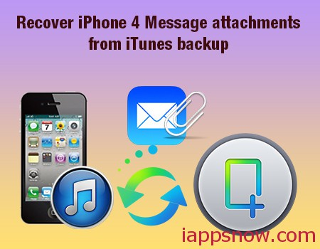 get back iphone 4 message attachments