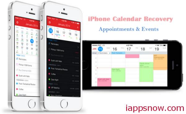 iphone carlendar recovery