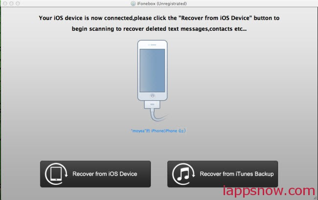 Recover data from iPhone 4s on mac
