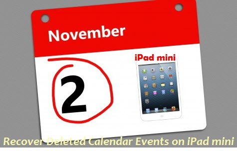 recover ipad mini calendar