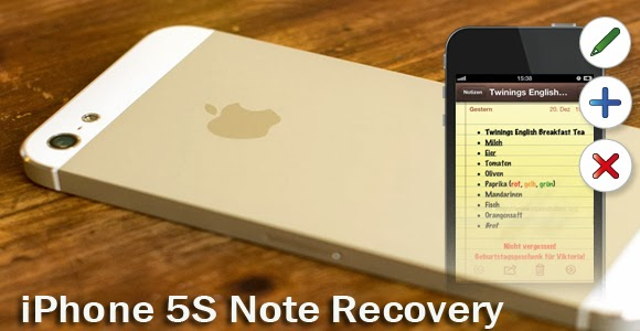 recover notes from iphone 5s