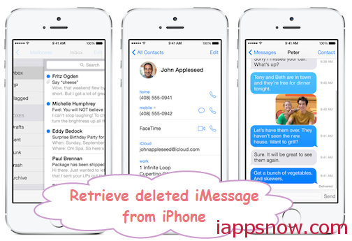 retrieve deleted imessages