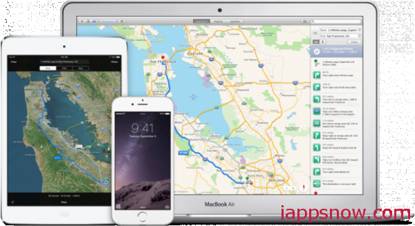 iOS 8 and iPhone 6(Plus) Maps