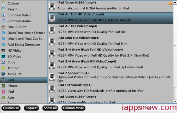 iPad Air/iPad Air 2 Video Format