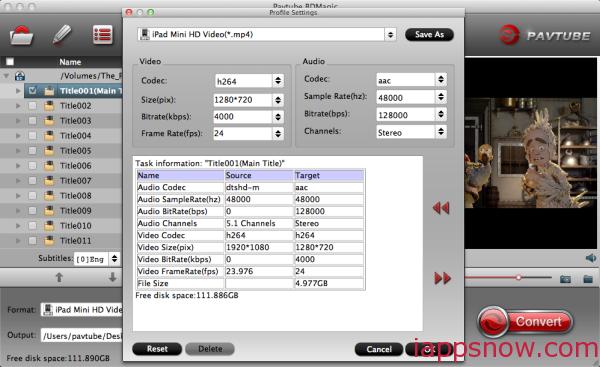 iPad Mini 3 video settings