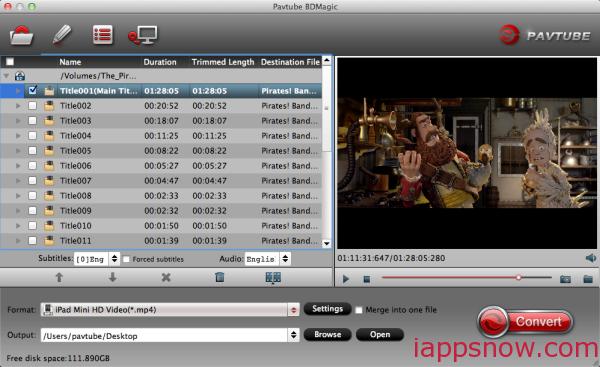 Mac Blu-ray to iPad Mini 3 Ripper