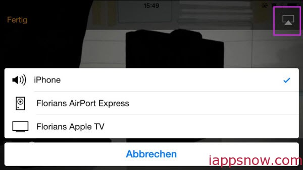 streaming videos to Apple TV