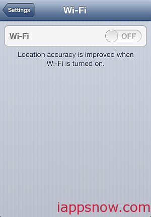 disabled iPhone wifi switch