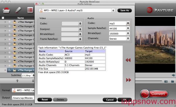 MP3 Audio Settings