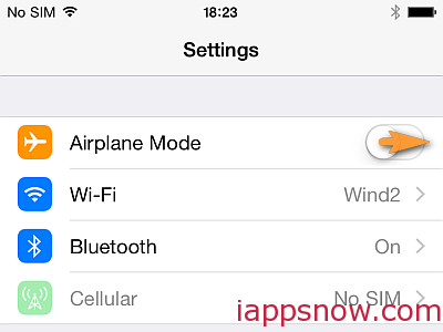 "Turn on ""Airplane mode"""