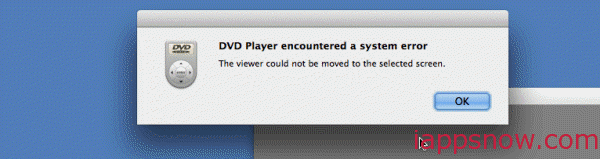 DVD Player Airplayer error