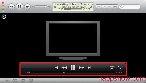 iTunes control panel