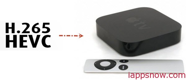 stream H.265/HEVC video to Apple TV 3