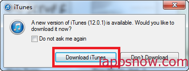 Upgrade iTunes