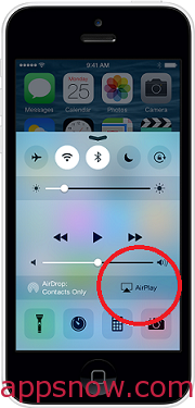 Tap AirPlay
