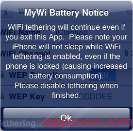 MyWi Battery Notice