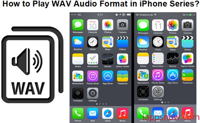 convert WAV to MP3 for playing in all iPhone series