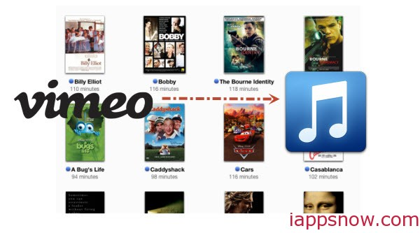 Convert Vimeo videos to iTunes friendly format