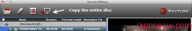 1:1 Full Disc Copy on Mac