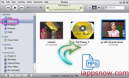 Add MPG to iTunes on Mac