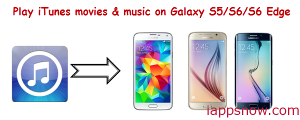 Play iTunes movies & music on Galaxy S5/S6/S6 Edge